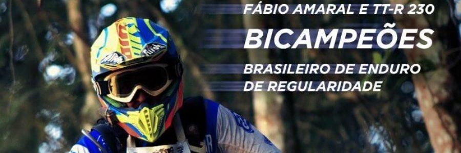 Com TT-R 230, Fábio Amaral é bicampeão do Brasileiro de Enduro de Regularidade na categoria Brasil